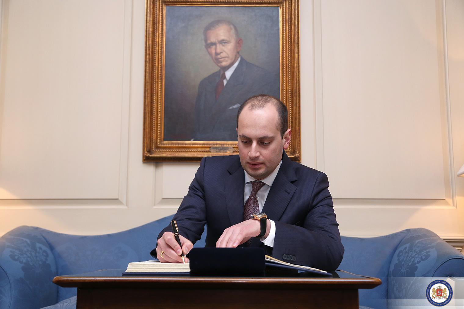 Михаил Джанелидзе провел первую встречу сновым госсекретарем США Рексом Тиллерсоном