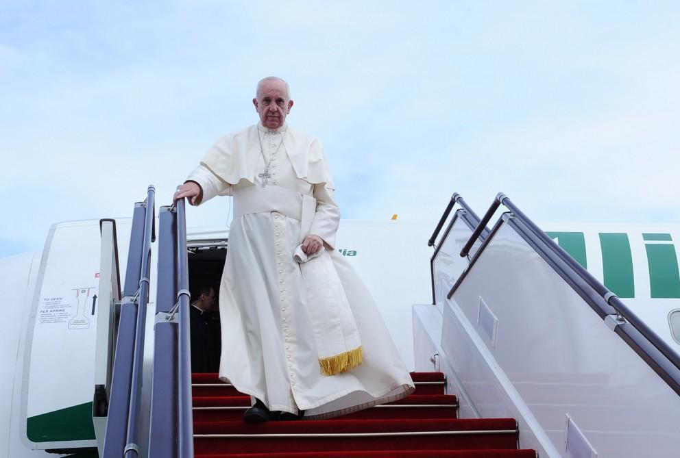 Папа римский прибыл свизитом вАзербайджан
