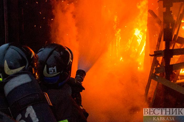 ВКраснодаре наулице Постовой потушили пожар