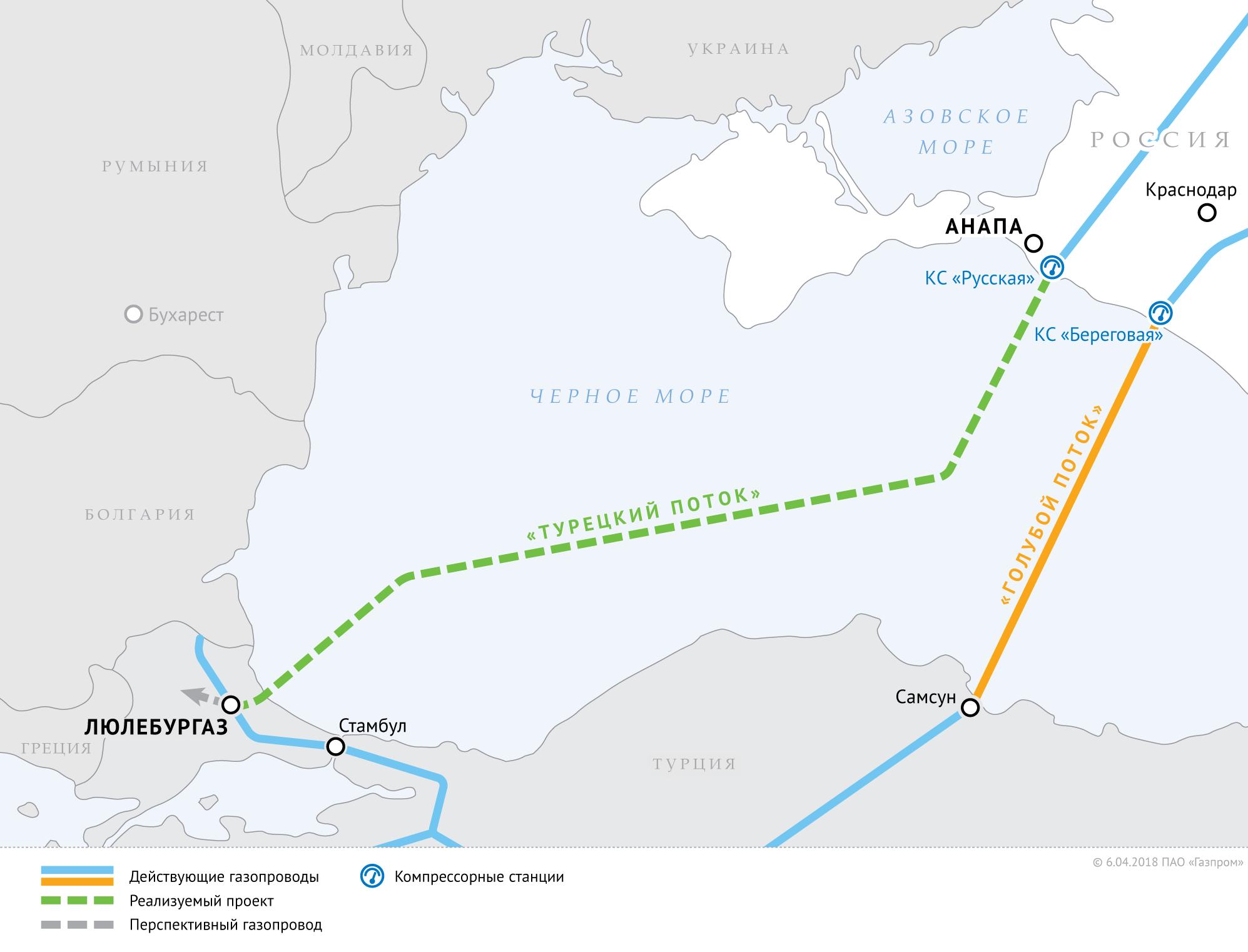 Болгария решила продлить'Турецкий поток