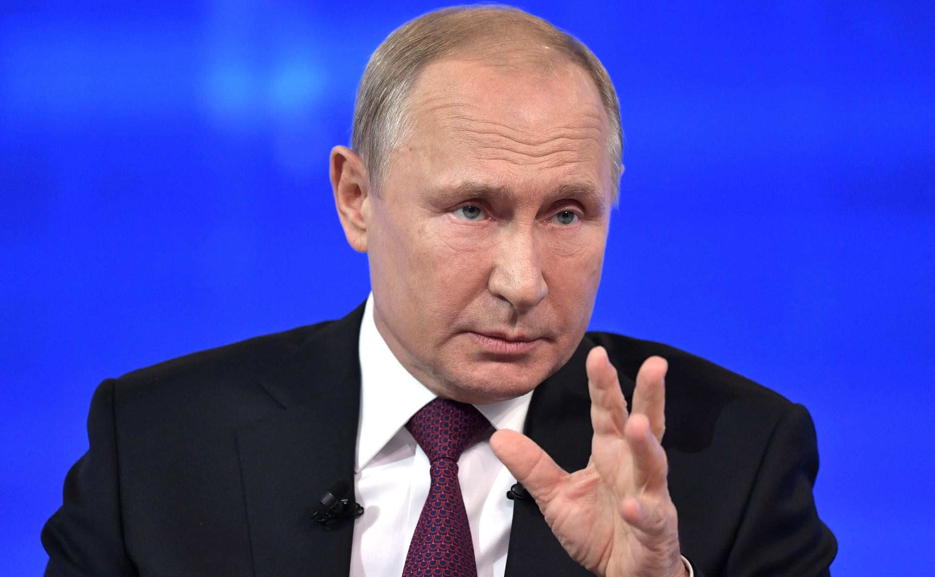 Путин попросил на него не сердиться