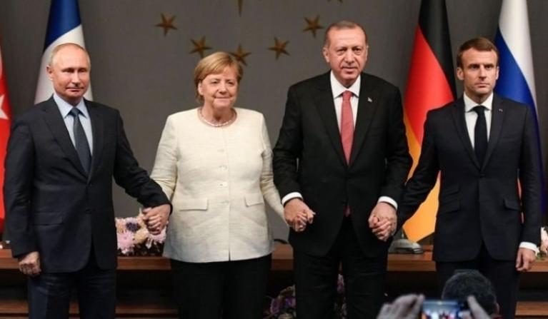 Путин, Меркель иМакрон обсудили обострение ситуации вИдлибе