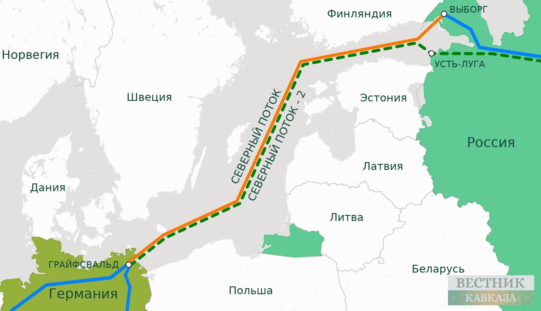 Россия закончила строительство участка Северного потока-2 вГермании