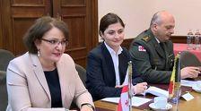Тина Хидашели провела встречу с главой Минобороны Бельгии