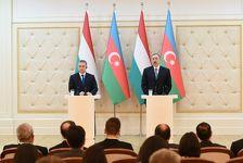 Ильхам Алиев: связи между Венгрией и Азербайджаном находятся на очень высоком уровне
