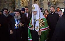 Патриарх Кирилл освятил на Афоне храм Кирилла и Мефодия