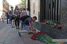 У посольства Турции в Москве почтили память погибших в Стамбуле