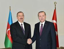 Ильхам Алиев провел переговоры с Реджепом Тайипом Эрдоганом